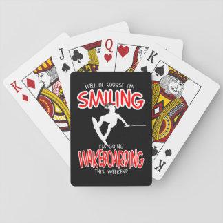 LÄCHELNDE WAKEBOARDING Weekend 1 WEISS Spielkarten