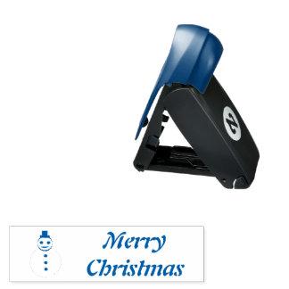 Lächelnde Weihnachtssnowman-kundenspezifische Taschenstempel