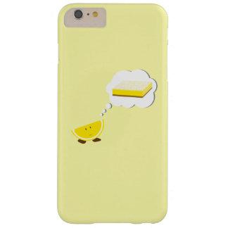 Lächelnde Zitrone, die an ein Zitronen-Bar denkt Barely There iPhone 6 Plus Hülle