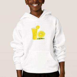 Lächelnde Zitrone und ein Glas Limonade Hoodie