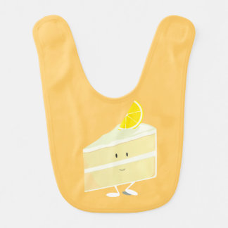Lächelnde Zitronenkuchenscheibe Lätzchen