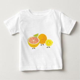 Lächelnde Zitrusfruchtgruppe Baby T-shirt