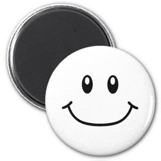 Lächelnder Ausdruck-Magnet 0001 (veränderbare Farb Runder Magnet 5,1 Cm