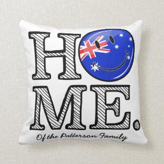 Lächelnder australischer FlaggeHousewarming Kissen