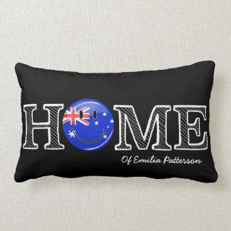 Lächelnder australischer FlaggeHousewarming Lendenkissen