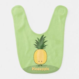 Lächelnder Baby-Schellfisch der Ananas-  Babylätzchen