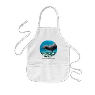 Lächelnder Delphin Kinderschürze