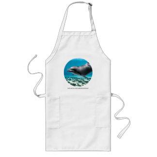 Lächelnder Delphin Lange Schürze