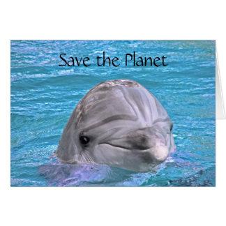 Lächelnder Delphin - retten Sie den Planeten Karte