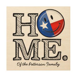 Lächelnder FlaggeHousewarming süßes Zuhause-Texas Holzwanddeko