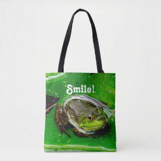 Lächelnder Frosch Tasche