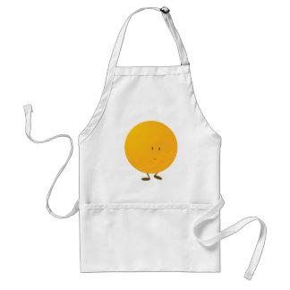 Lächelnder ganzer orange Charakter Schürze