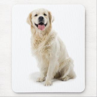 Lächelnder golden retriever-Welpe Mousepad