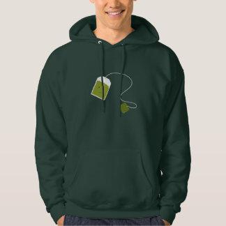 Lächelnder grüner Teebeutel Hoodie