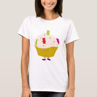 Lächelnder gummiartiger Bärnkleiner kuchen T-Shirt