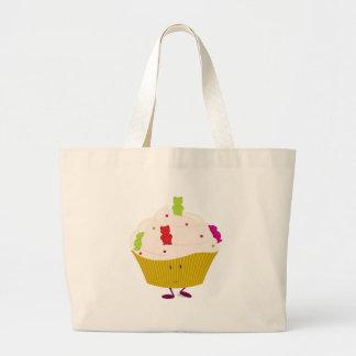 Lächelnder gummiartiger Bärnkleiner kuchen Taschen