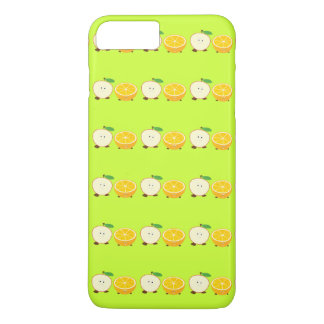 Lächelnder halber Apfel und halb orange iPhone 8 Plus/7 Plus Hülle