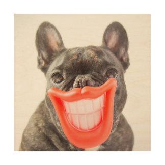 Lächelnder Hund Getty Bild-| A Holzdruck