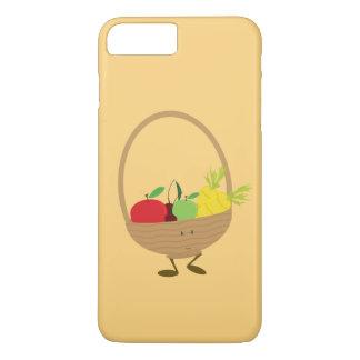 Lächelnder Obst- und Gemüse Korbcharakter iPhone 8 Plus/7 Plus Hülle