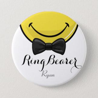 Lächelnder RingBearer Hochzeits-Knopf Runder Button 7,6 Cm
