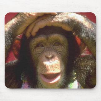 Lächelnder Schimpanse Mousepads