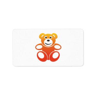 Lächelnder Sommer-Teddybär Adressaufkleber