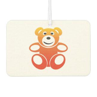 Lächelnder Sommer-Teddybär Autolufterfrischer