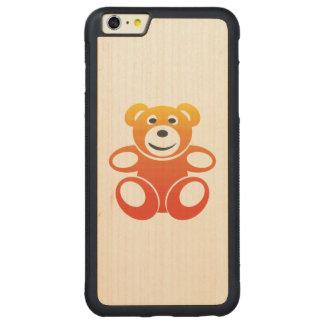 Lächelnder Sommer-Teddybär Carved® Maple iPhone 6 Plus Bumper Hülle