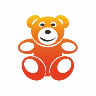 Lächelnder Sommer-Teddybär Fotoskulptur Schlüsselanhänger