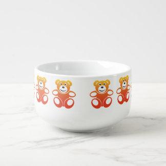 Lächelnder Sommer-Teddybär Große Suppentasse