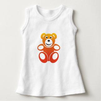 Lächelnder Sommer-Teddybär Kleid