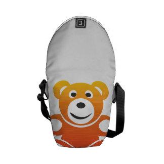 Lächelnder Sommer-Teddybär Kurier Taschen