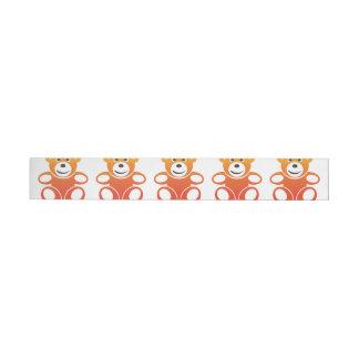 Lächelnder Sommer-Teddybär Rundum-Adressaufkleber