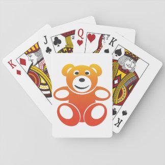Lächelnder Sommer-Teddybär Spielkarten
