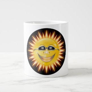 Lächelnder Sonnenschein Jumbo-Tassen