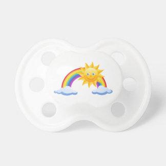 Lächelnder Sonnenschein-Regenbogen Schnuller