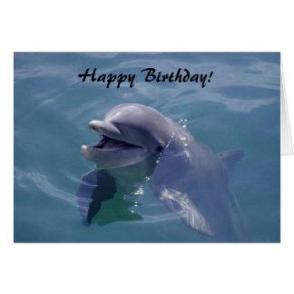 Lächelndes Delphin-alles Gute zum Geburtstag! Karte
