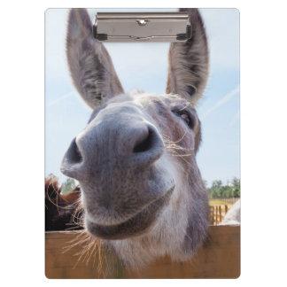 Lächelndes Esel-Klemmbrett