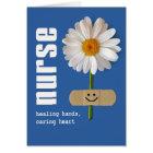 Lächelndes Gänseblümchen. Danke, Gruß-Karte zu Karte
