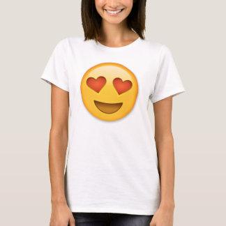 Lächelndes Gesicht mit Herz-Förmigem Augen emoji T-Shirt