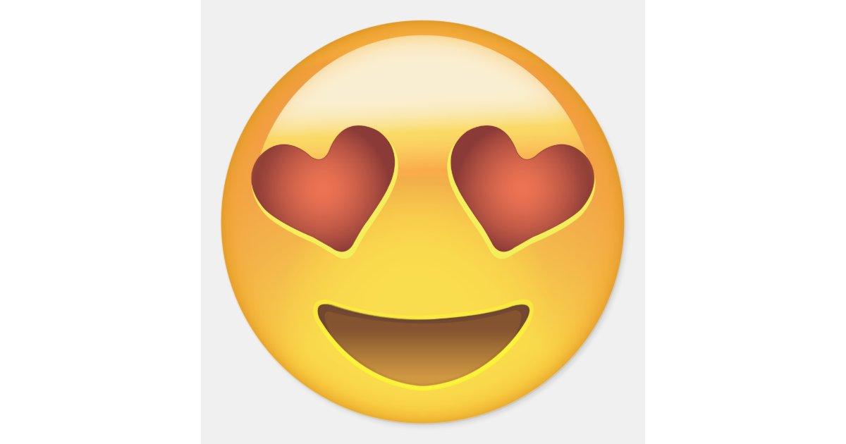 Lächelndes Gesicht mit Herz-geformten Augen Emoji Runder