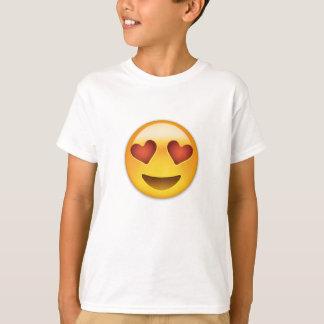 Lächelndes Gesicht mit Herz-geformten Augen Emoji T-Shirt