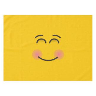 Lächelndes Gesicht mit lächelnden Augen Tischdecke