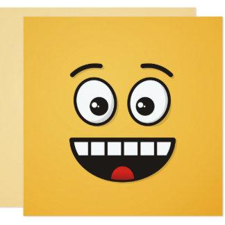 Lächelndes Gesicht mit offenem Mund Karte