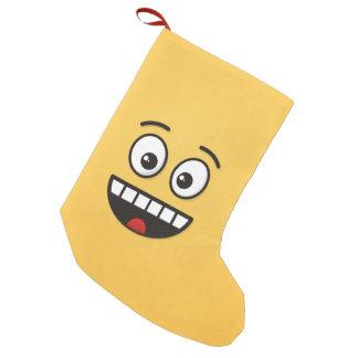 Lächelndes Gesicht mit offenem Mund Kleiner Weihnachtsstrumpf