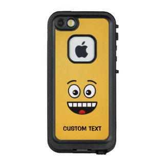 Lächelndes Gesicht mit offenem Mund LifeProof FRÄ' iPhone SE/5/5s Hülle