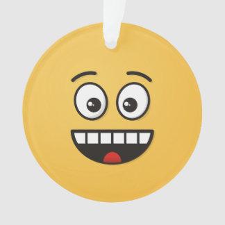 Lächelndes Gesicht mit offenem Mund Ornament