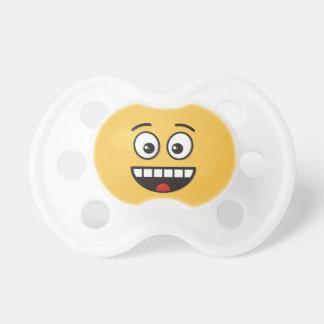 Lächelndes Gesicht mit offenem Mund Schnuller