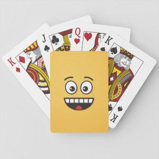 Lächelndes Gesicht mit offenem Mund Spielkarten
