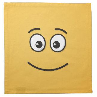 Lächelndes Gesicht mit offenen Augen Stoffserviette